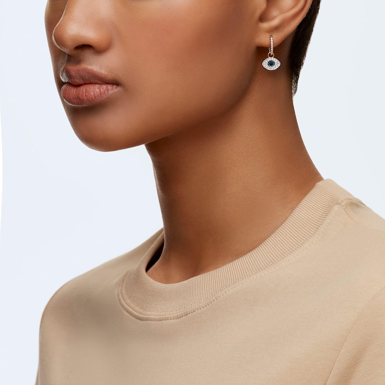 Védő szem arany fülbevaló, arany ékszer - Sárga arany fülbevalók