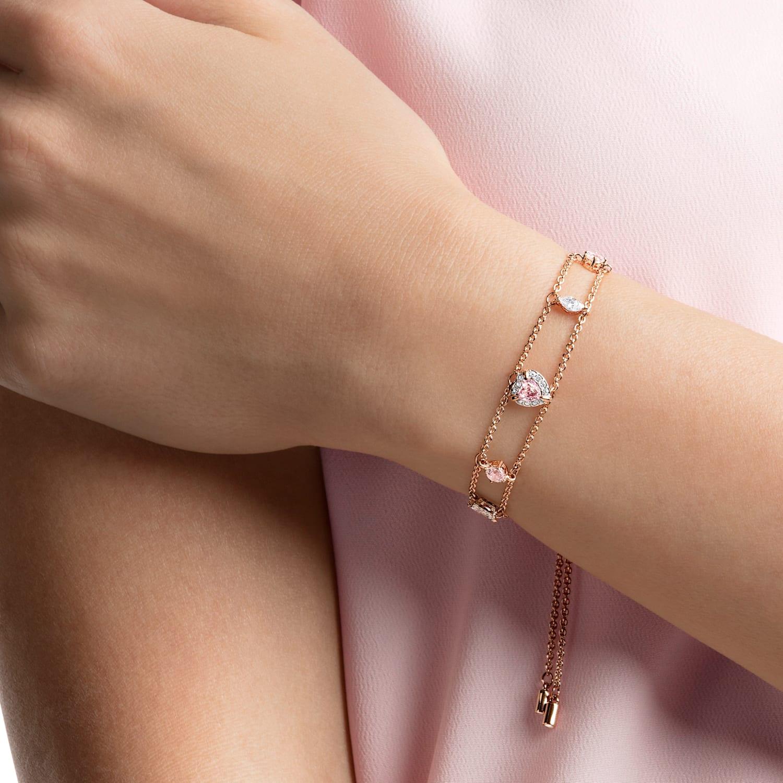 One Bracelet, Multi-colored, Rose-gold tone plated | Swarovski.com