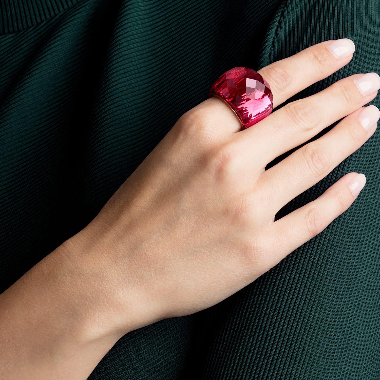 Swarovski Nirvana Ring, Red, Rose-gold tone PVD