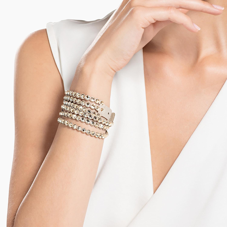 Swarovski Power-collectie armband, Beige | Swarovski.com