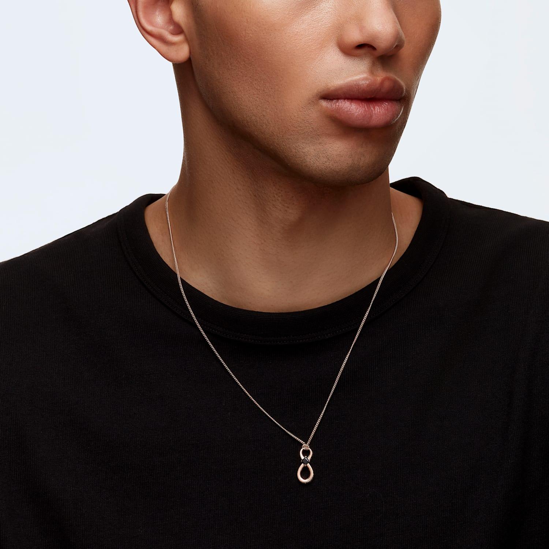 Pendentif Swarovski Infinity, noir, métal doré rose | Swarovski.com