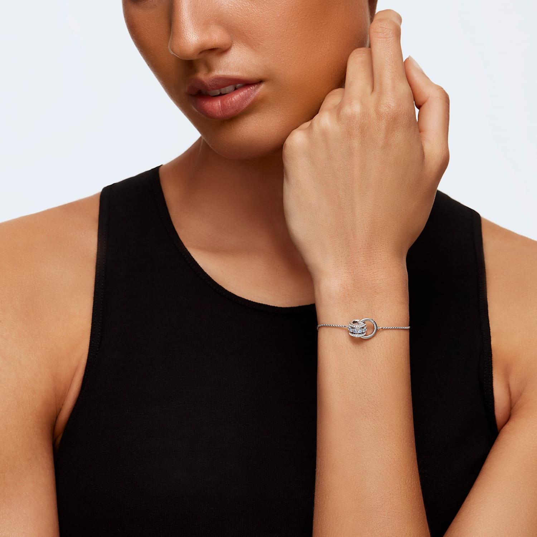 Nice swaroski blue jonc bracelet