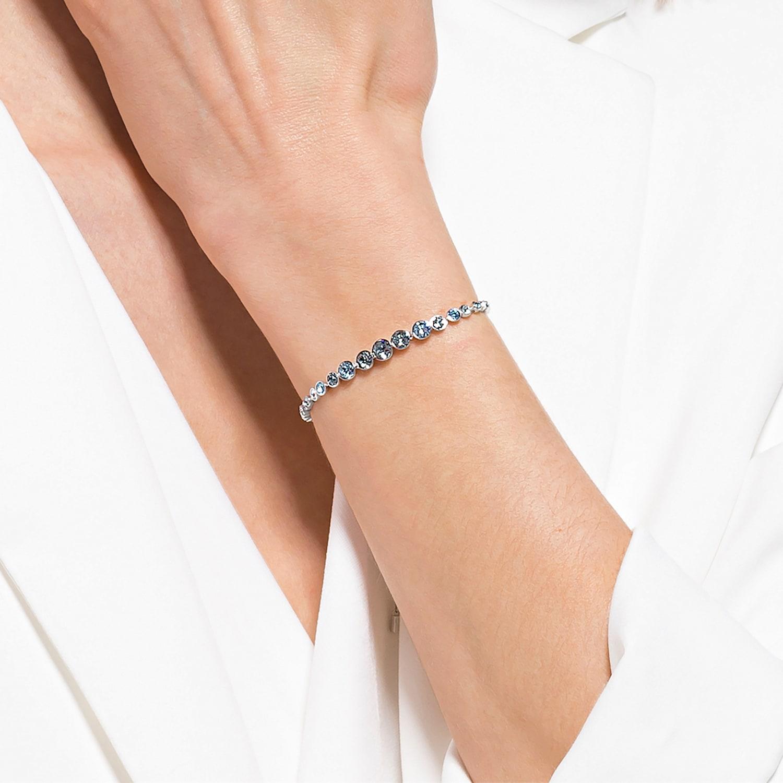 Emily Gradient Bracelet, Blue, Rhodium plated