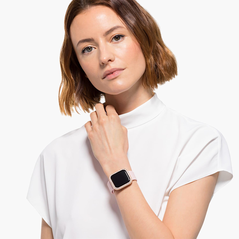 40 Mm Sparkling Case Compatible With Apple Watch Rose Gold Tone Swarovski Com