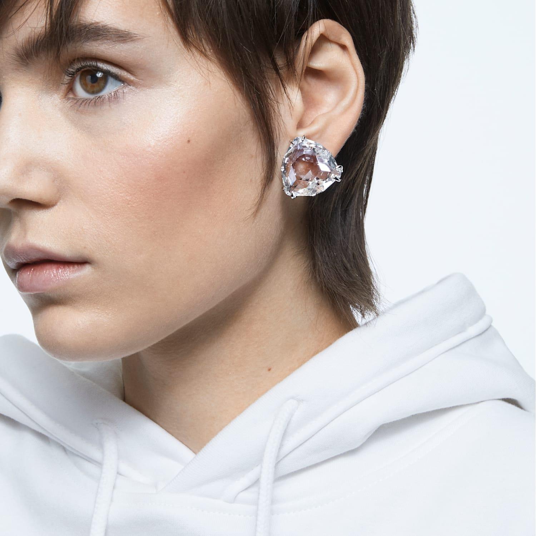 Rhodium or Multi-Faced Sterling Marvelous Miranda Faceted Moldavite Earrings 8x10