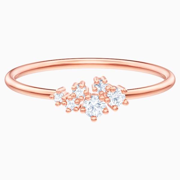 Swarovski Penelope Cruz Moonsun Ring (White, Rose-gold tone plated)