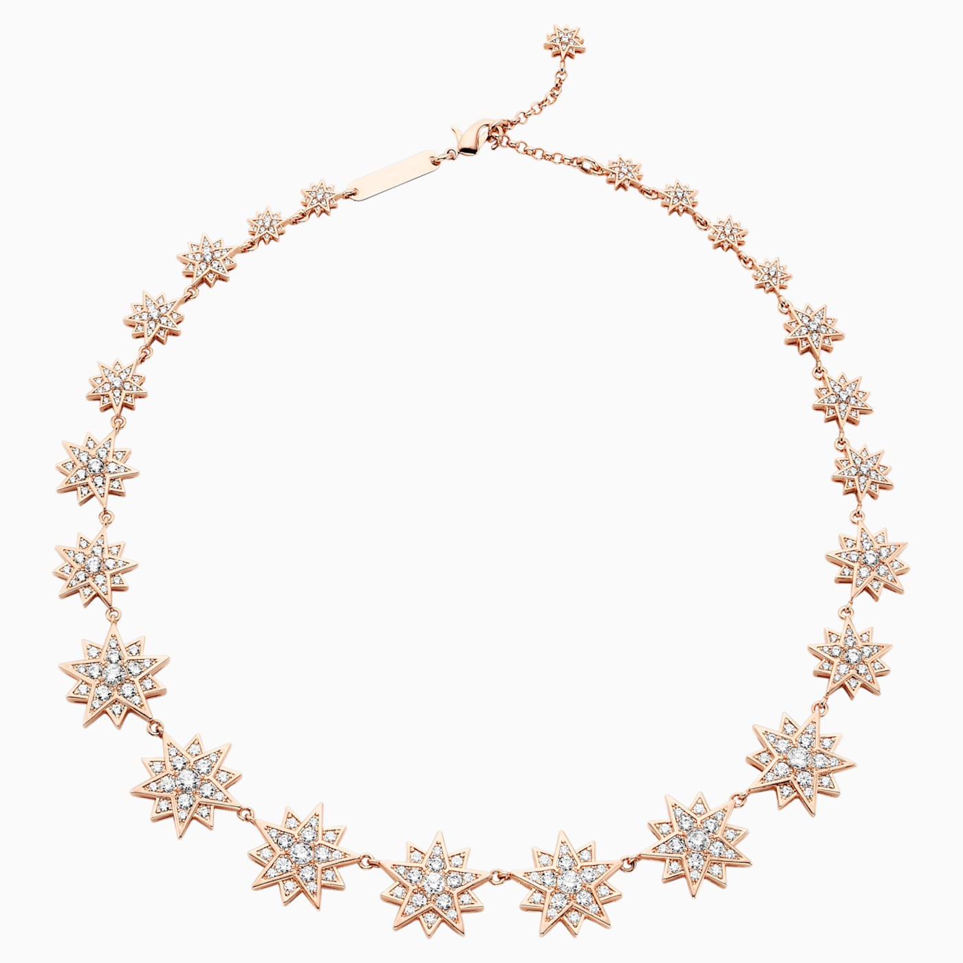 Penélope Cruz Moonsun Necklace, Limited Edition, White, Rose-gold tone plated - Swarovski, 5489773