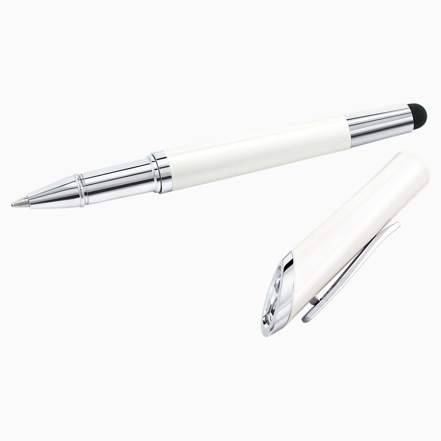 HIGH QUALITY CRYSTAL 2 IN 1 STYLUS BALLPOINT  PEN MADE WITH SWAROVSKI ELEMENTS