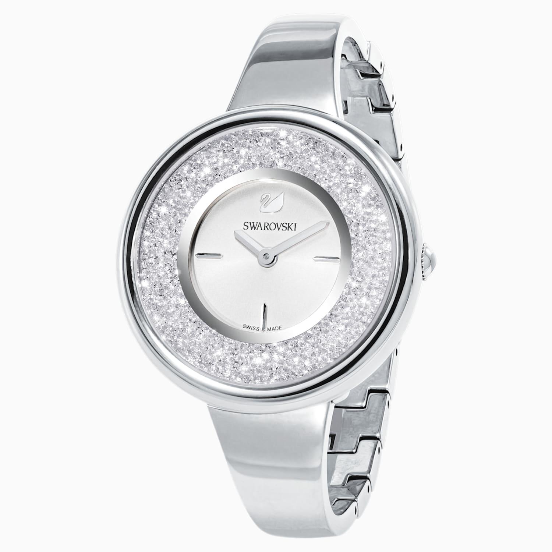 Crystalline Pure Watch Metal Bracelet White Stainless Steel Swarovski Com