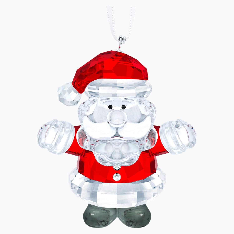 Santa Claus 2020 Holiday Christmas Swarovski Crystal Santa Claus Ornament | Swarovski.com