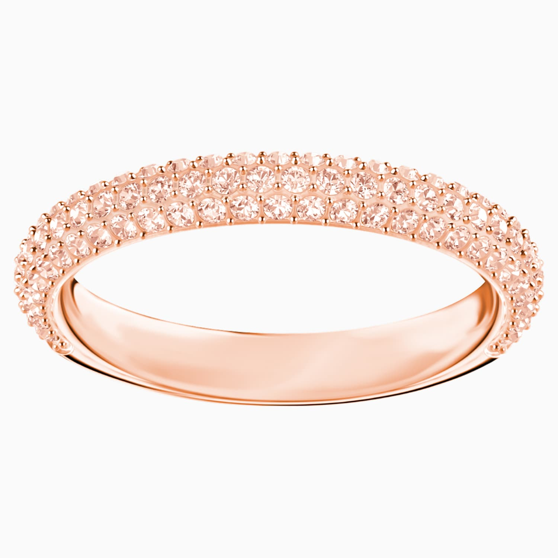 Stone Ring, rosa, Rosé vergoldet