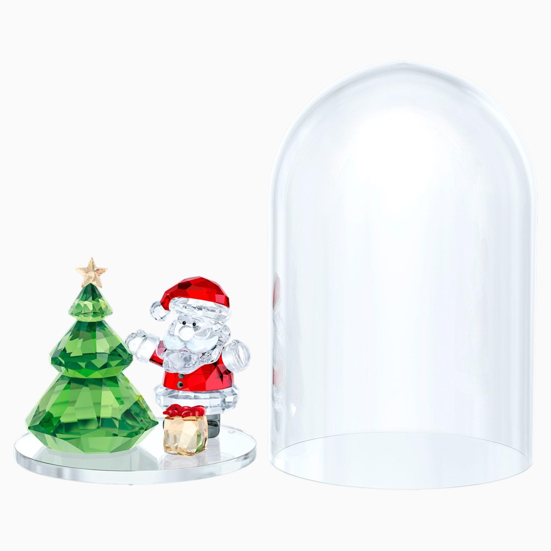 Albero Di Natale E Babbo Natale.Campana Di Vetro Albero Di Natale E Babbo Natale Swarovski Com