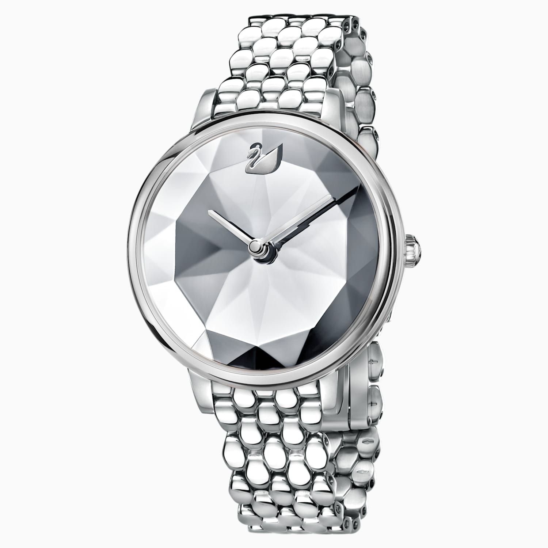 Crystal Lake Watch Metal Bracelet White Stainless Steel Swarovski Com