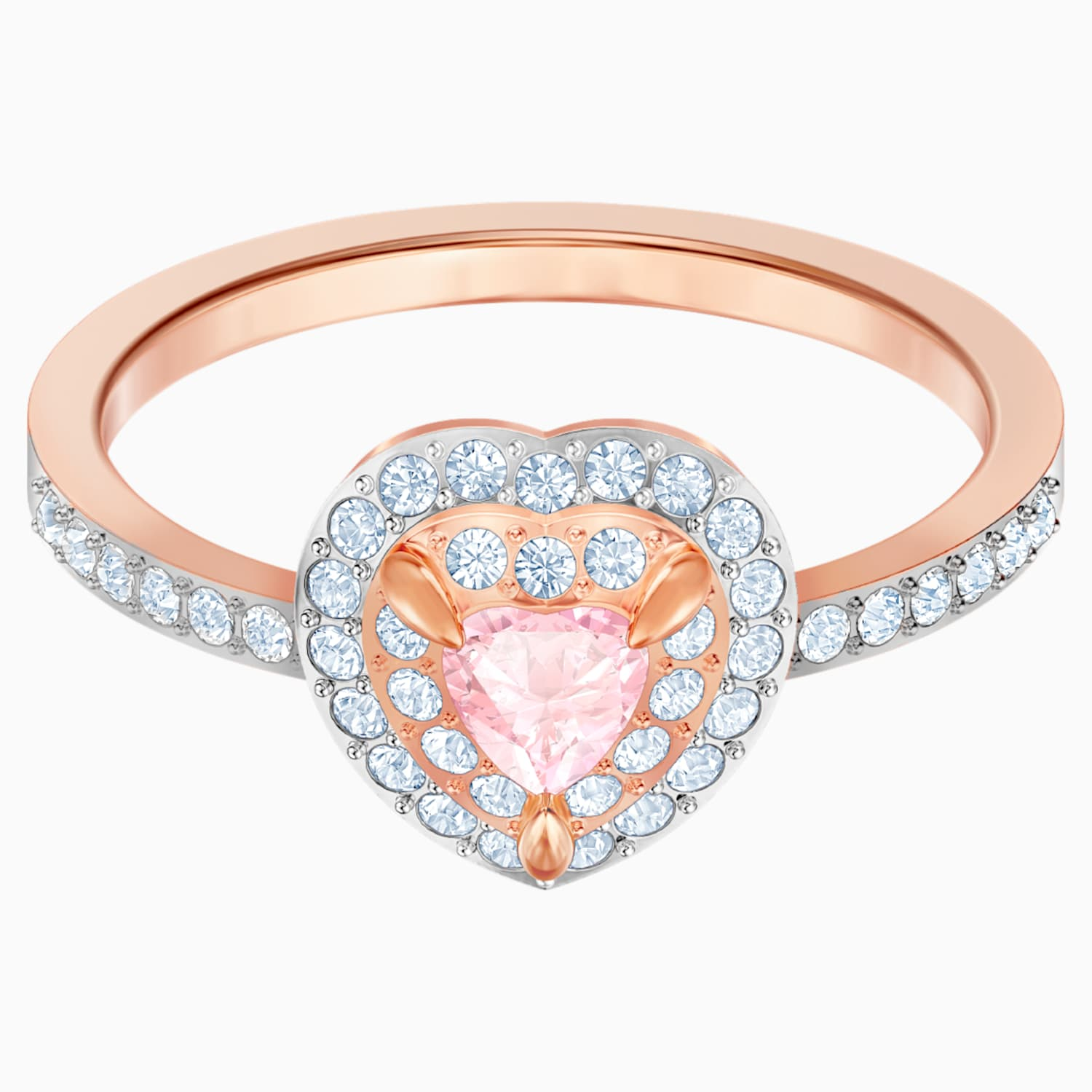 It is just a picture of One Ring, Multi-colored, Rose-gold tone plated