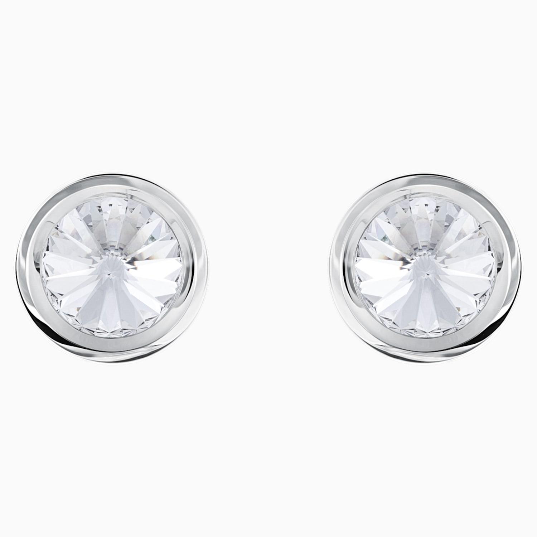 Tiranía si puedes Significativo  Round Cufflinks, White, Stainless steel | Swarovski.com