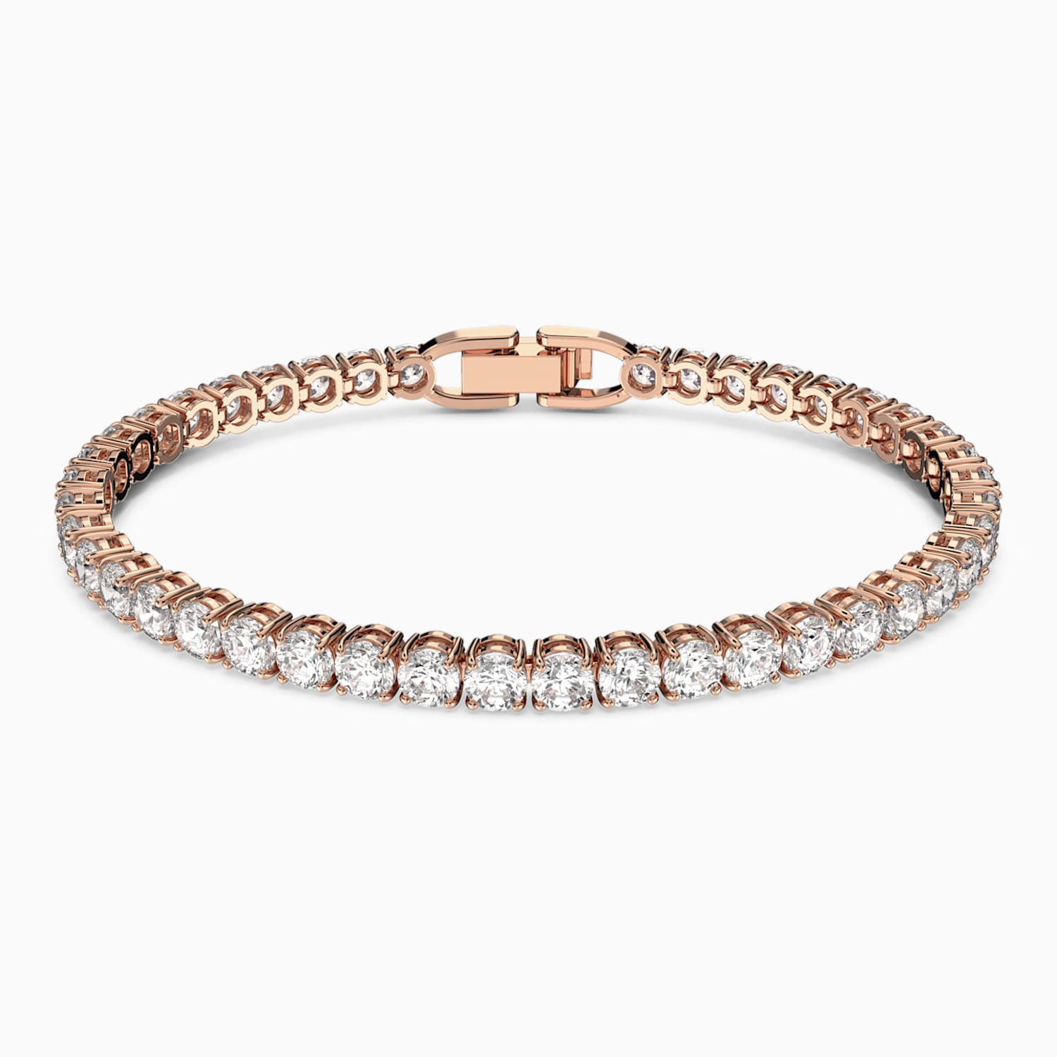 Tennis Bracelet White Rose Gold Tone Plated Swarovski Com