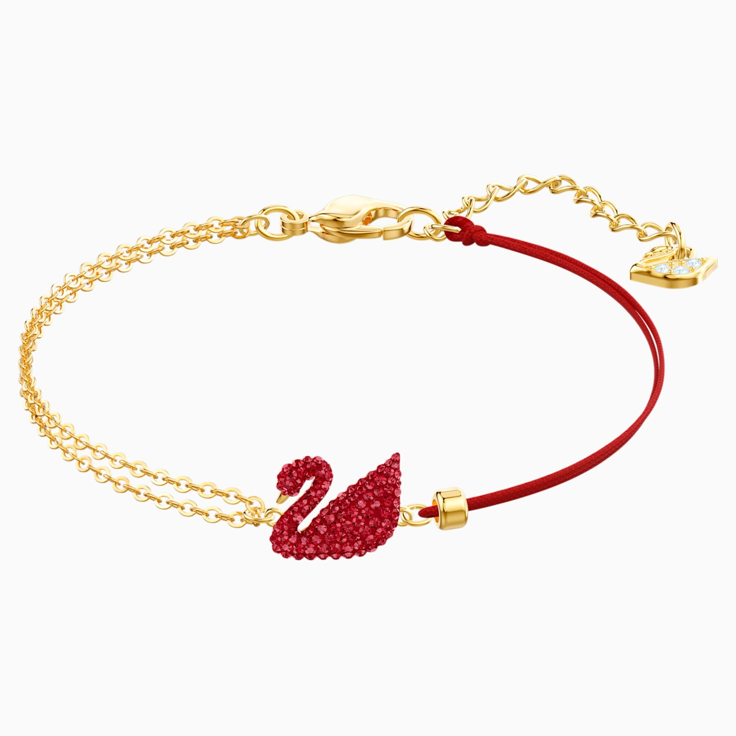 Iconic Swan Bracelet Red Gold Tone