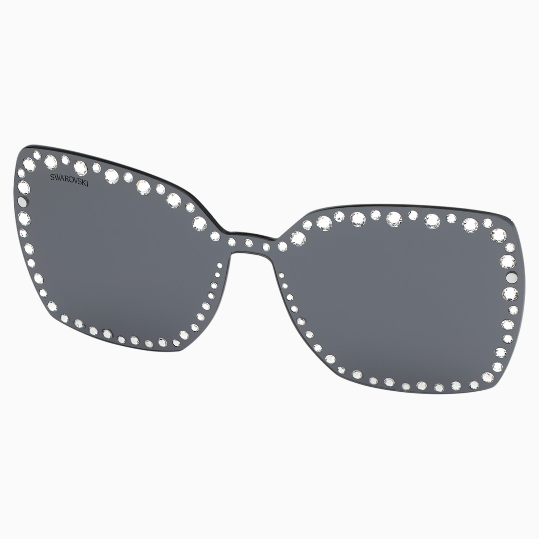 Masque à cliper pour lunettes de soleil Swarovski, SK5330 CL 16A, gris