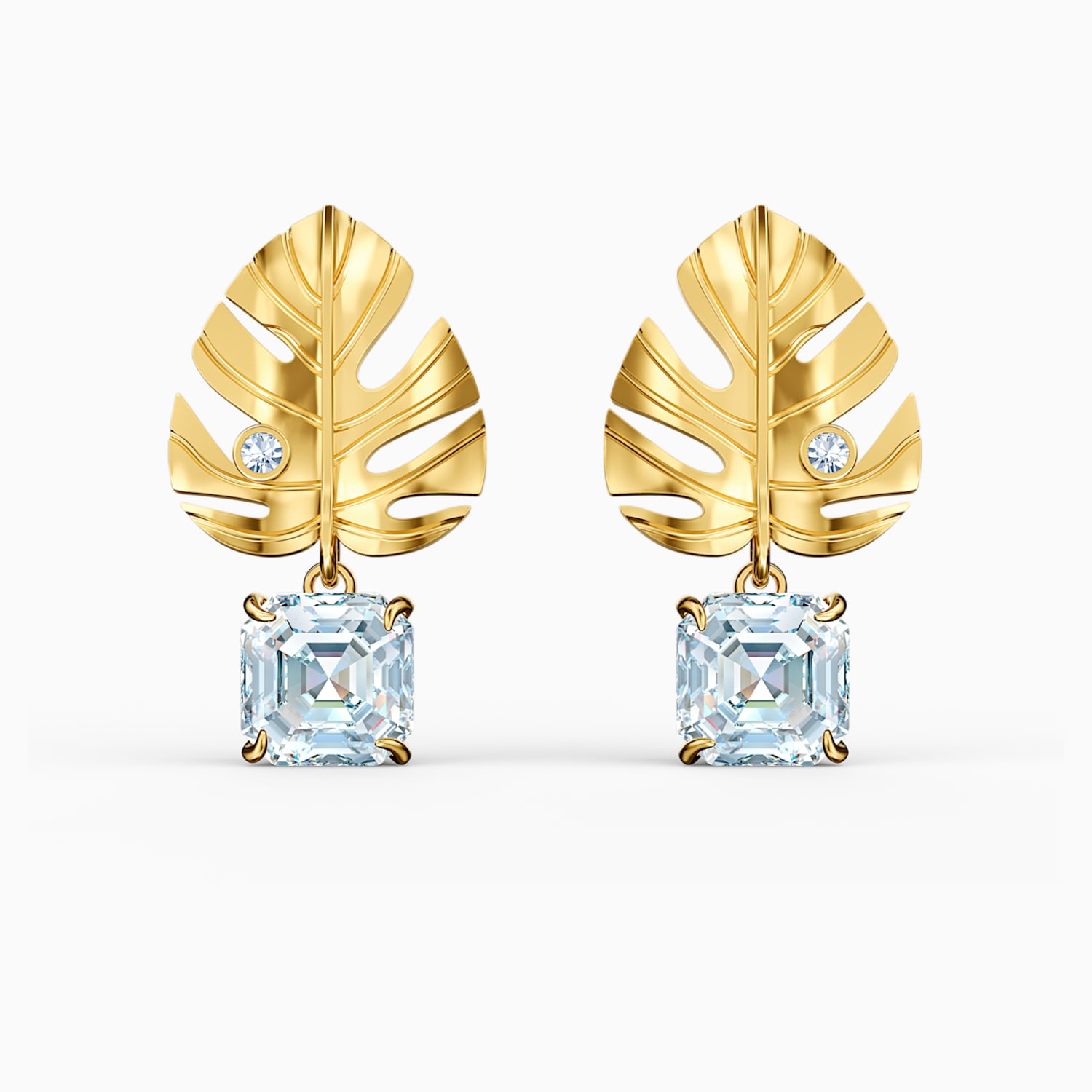 Tropical Leaf Pierced Earrings White Gold Tone Plated Swarovski Com A wide variety of artificial tropical leaves options are available to you, such as material, occasion, and plant type. swarovski