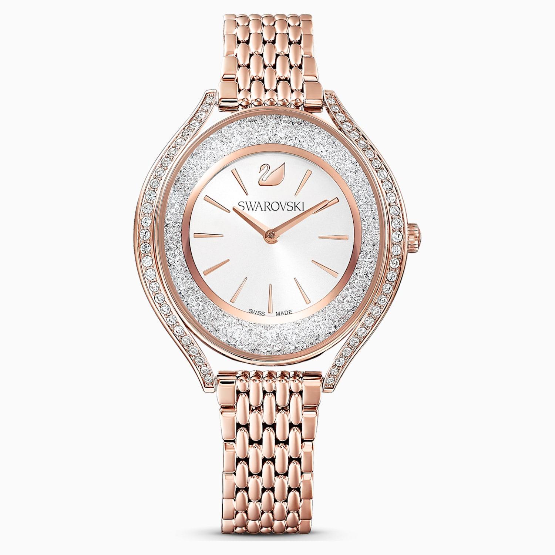 Orologio Crystalline Aura Bracciale Di Metallo Tono Oro Rosa Pvd Oro Rosa