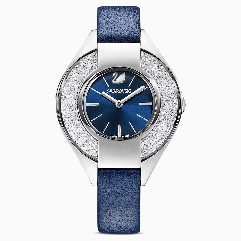 Orologio Crystalline Sporty Cinturino In Pelle Blu Acciaio Inossidabile Swarovski Com