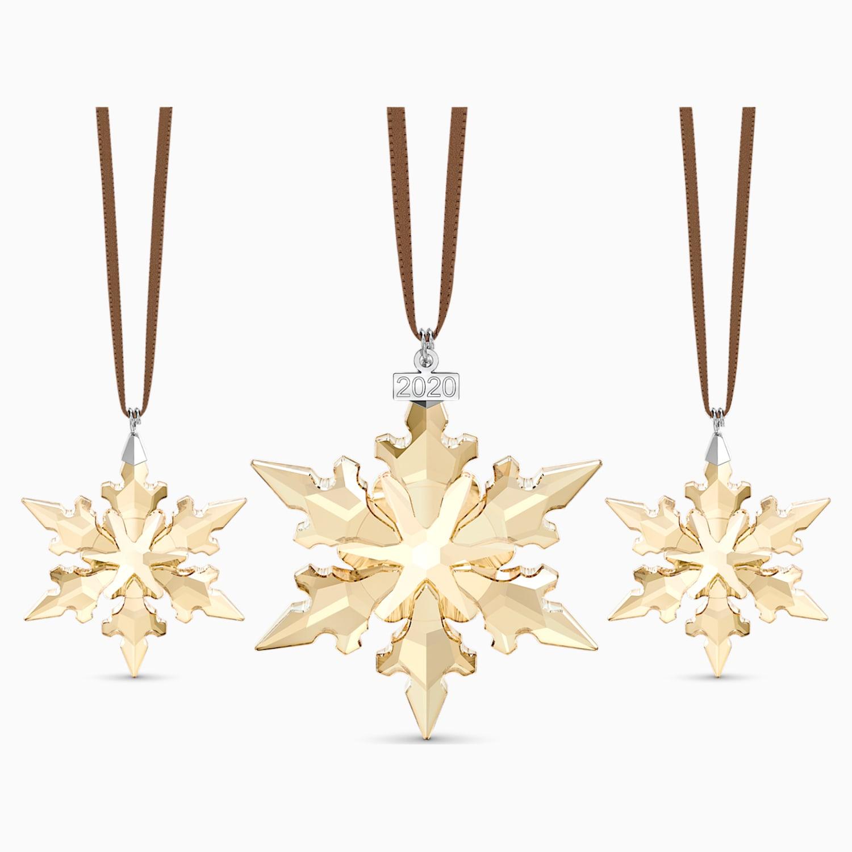 Swarovski Decorazioni Natalizie.Festive Ornament Set 2020 Swarovski Com