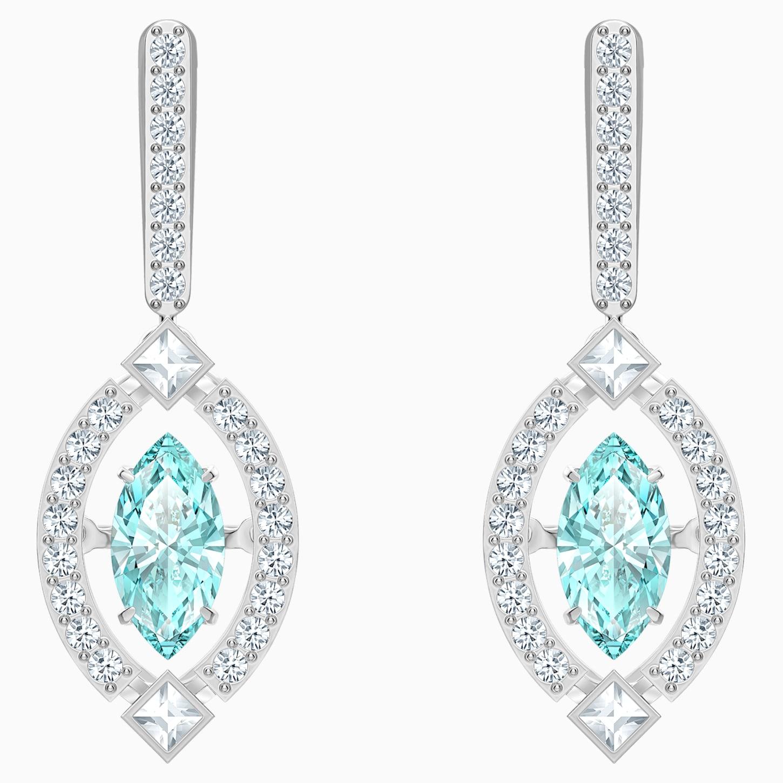 Swarovski Sparkling Dance Pierced Earrings, White, Rhodium