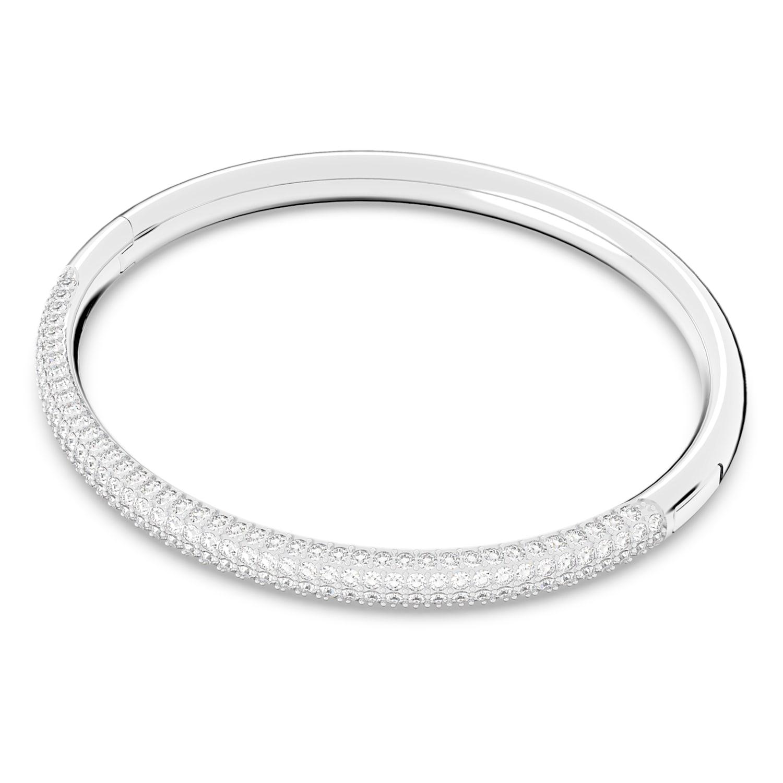 M746-1pcs-Rhodium Plated-Rectangle link Bracelet-Chain Bangle