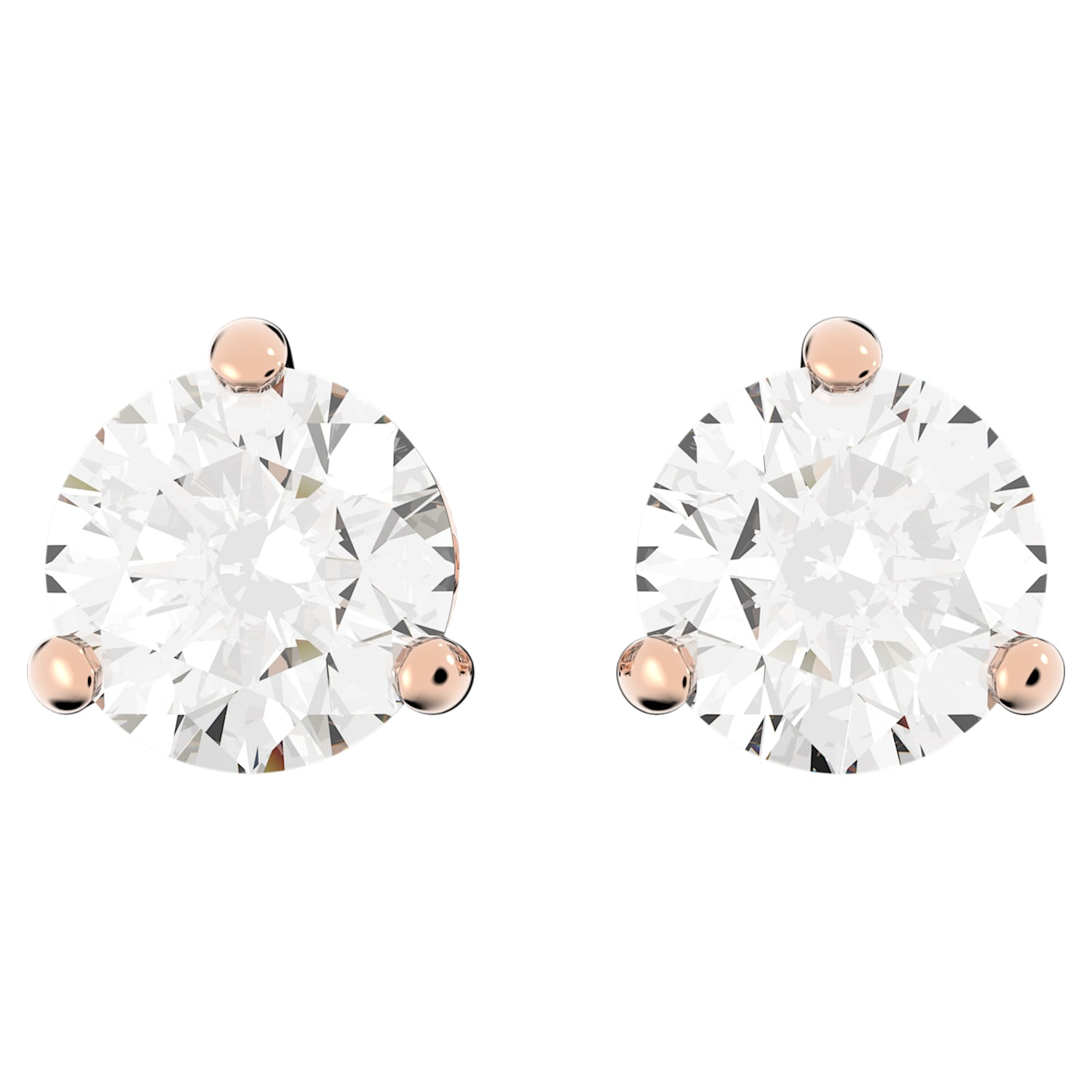 1pair2pcs-10mmX7mm Bright Gold plated Brass round natural stone earrings Rose Aventurine SA0181G-A 925 sterling silver post Earring
