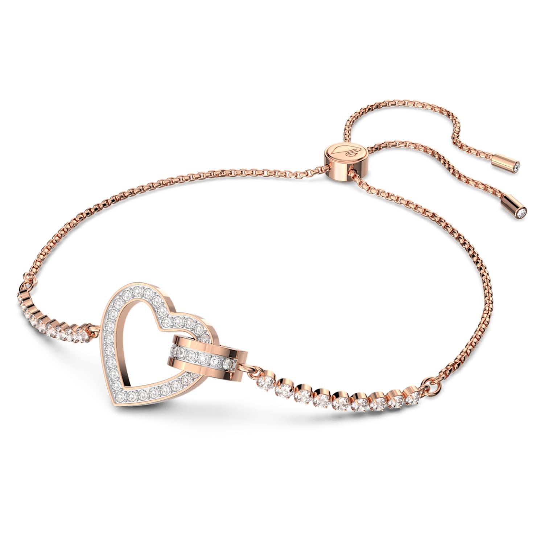 Lovely Bracelet, White, Rose-gold tone plated | Swarovski.com
