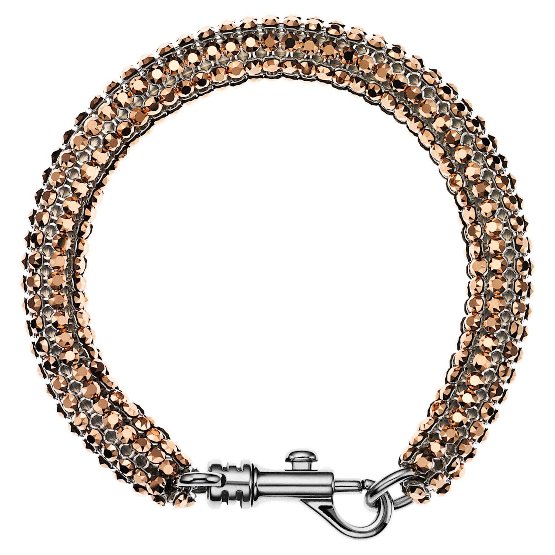Skinny Single Bolster Bracelet, Palladium plated
