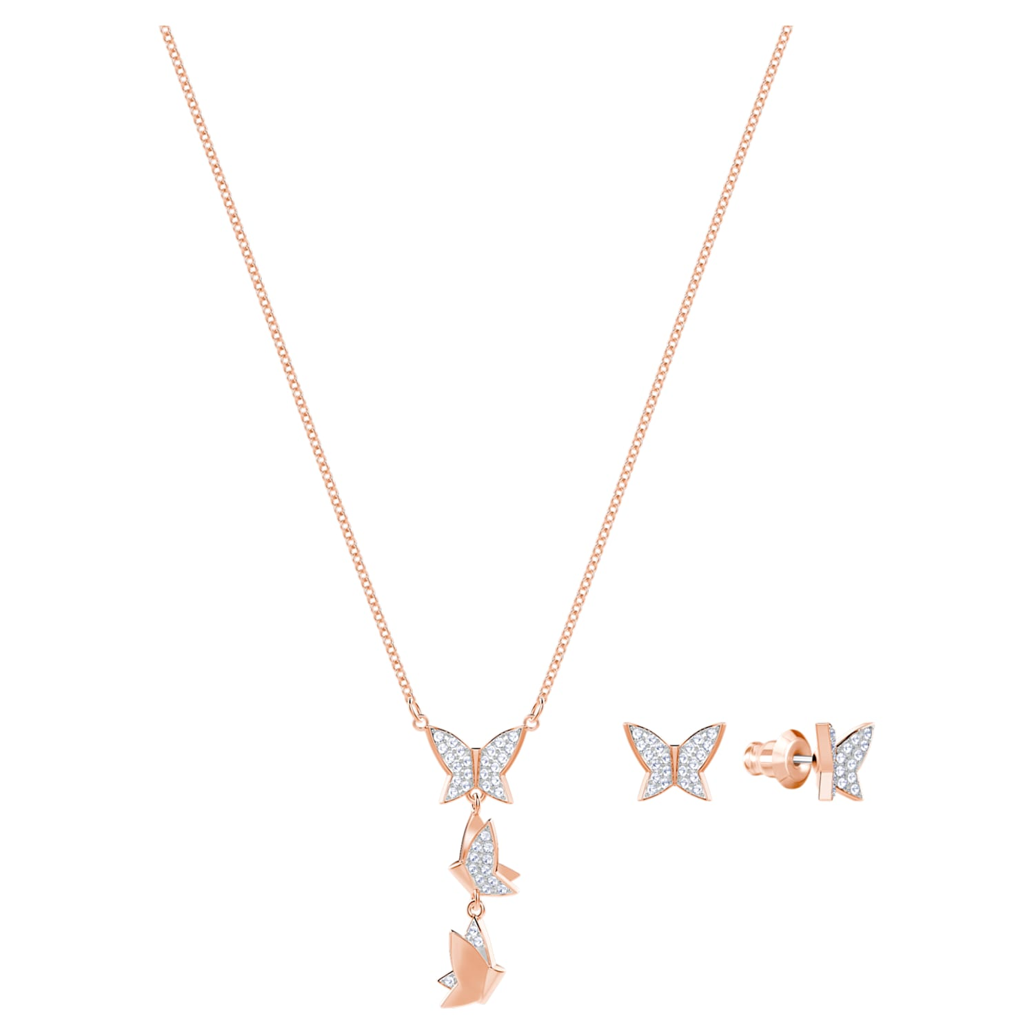 """Details about  /16/"""" Rose Gold Plated Tiny White Pink Lavender Pearl Necklace /& Bracelet Set Gift"""
