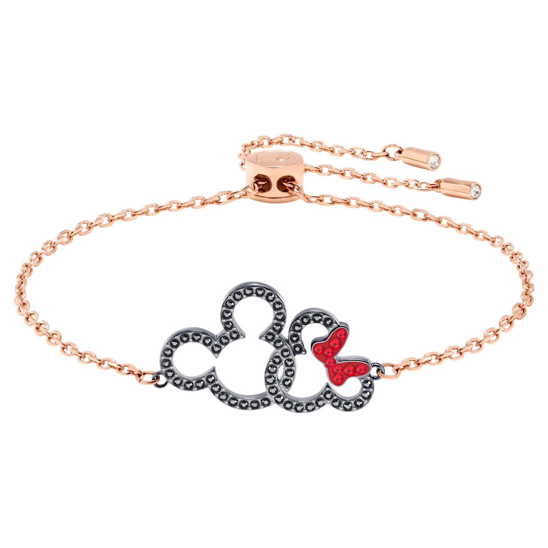 Bracelet Mickey & Minnie, multicolore, Finition mix de métal ...