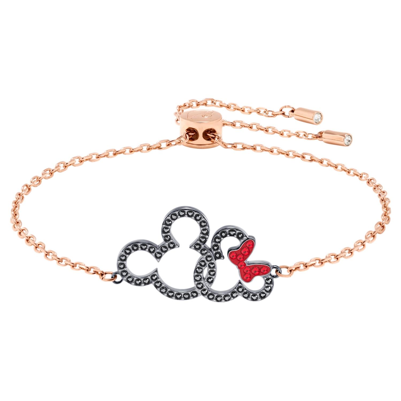 Mickey & Minnie Bracelet, Multi-colored, Mixed metal finish ...