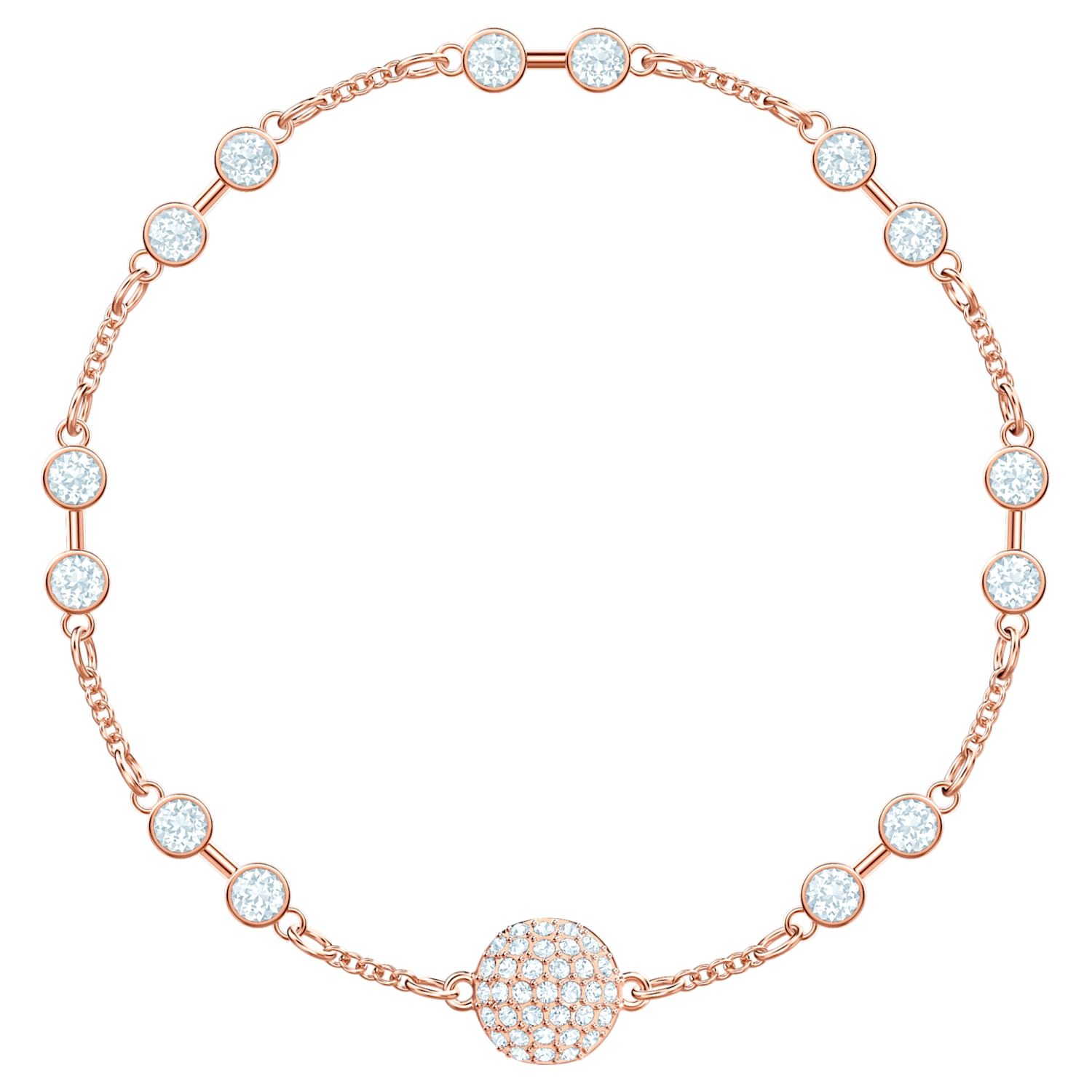 Swarovski Remix Collection Carrier, White, Rose-gold tone plated ...