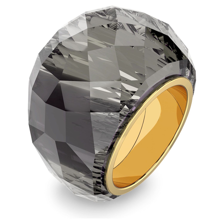 Swarovski Nirvana Ring, Gray, Gold-tone PVD