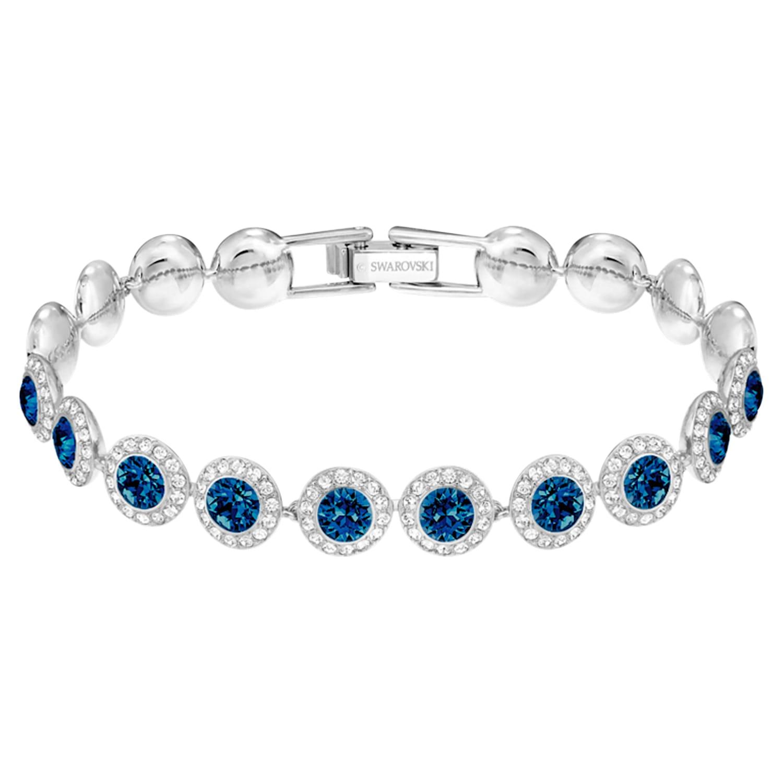 Bracelet Angelic, bleu, Métal rhodié