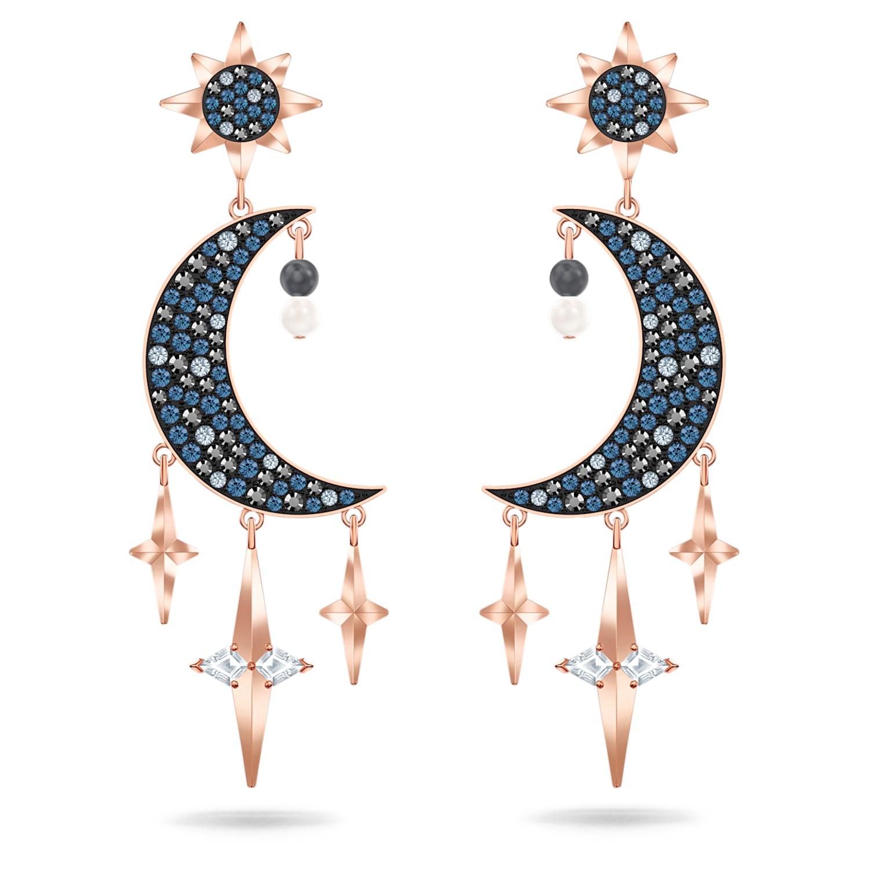Boucles d'oreilles Swarovski Symbolic, multicolore, Finition mix de métal