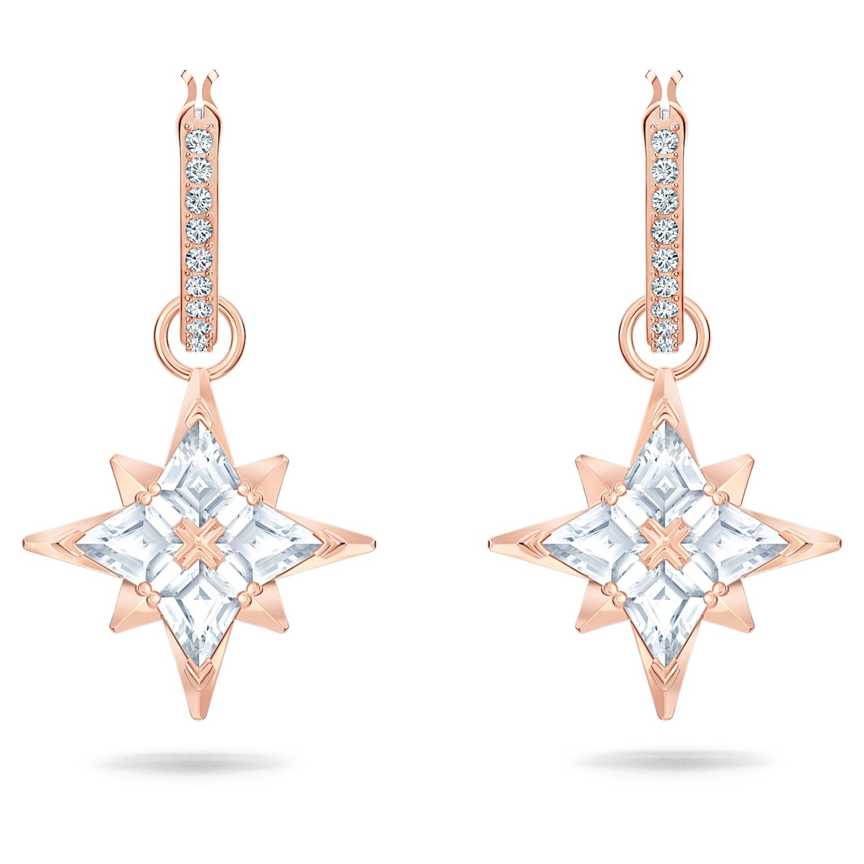 Pendientes De Aro Swarovski Symbolic Star Blanco Baño En Tono Oro Rosa Swarovski Com