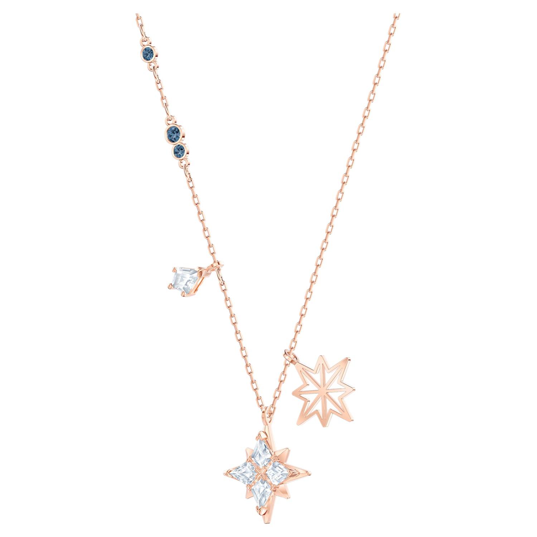 Pendentif Swarovski Symbolic Star, blanc, Métal doré rose