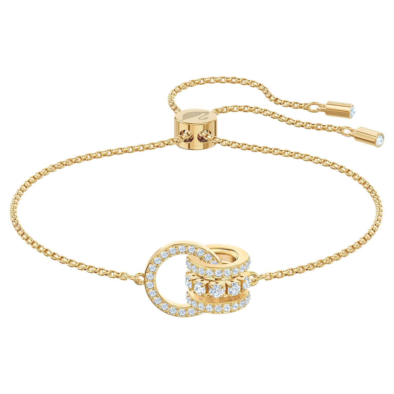 Bracelet Further, blanc, Métal doré
