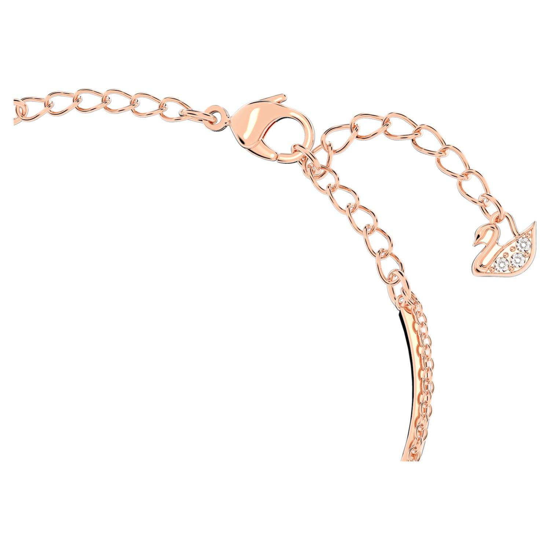 Swarovski Infinity Bangle, White, Rose-gold tone plated ...
