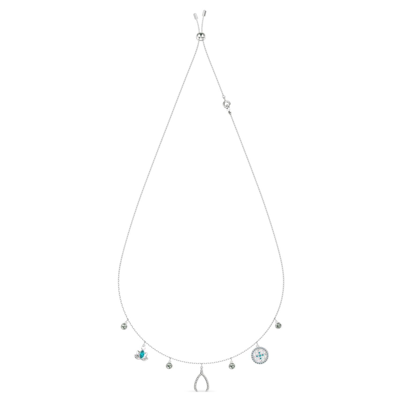 Swarovski Symbolic Charm Necklace, Light multi-colored, Rhodium plated