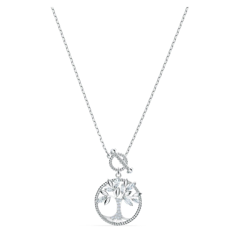 Swarovski Symbolic Tree of Life Halskette, Weiss, rhodiniert ...