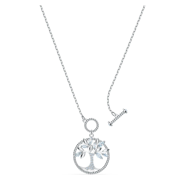 Swarovski Symbolic Tree of Life Necklace, White, Rhodium plated