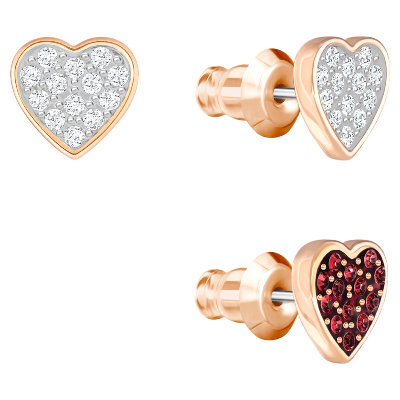 Parure de boucles d'oreilles Crystal Wishes, multicolore, Métal doré rose