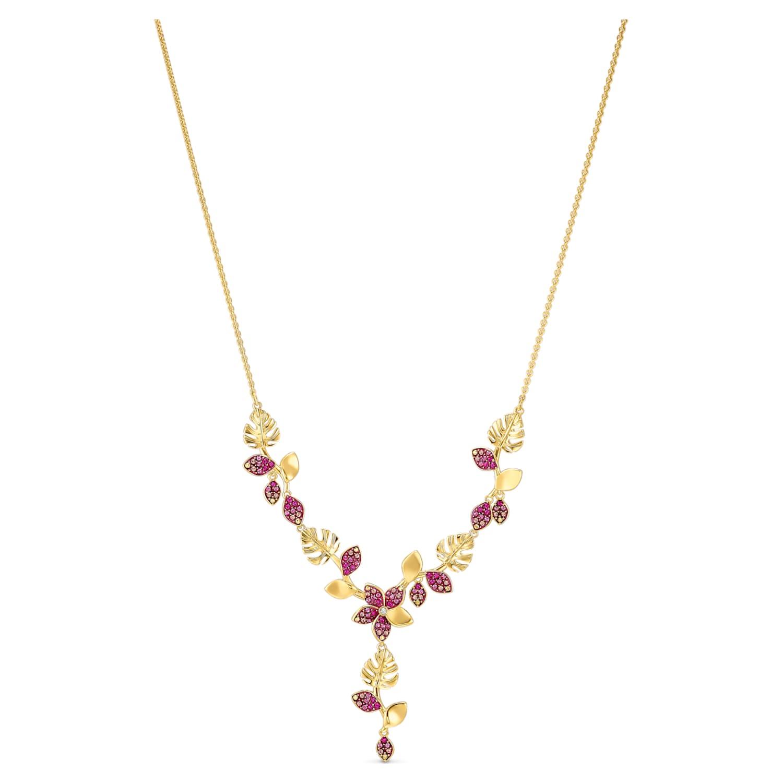 Jewelry necklace pink elegant festive gala gold