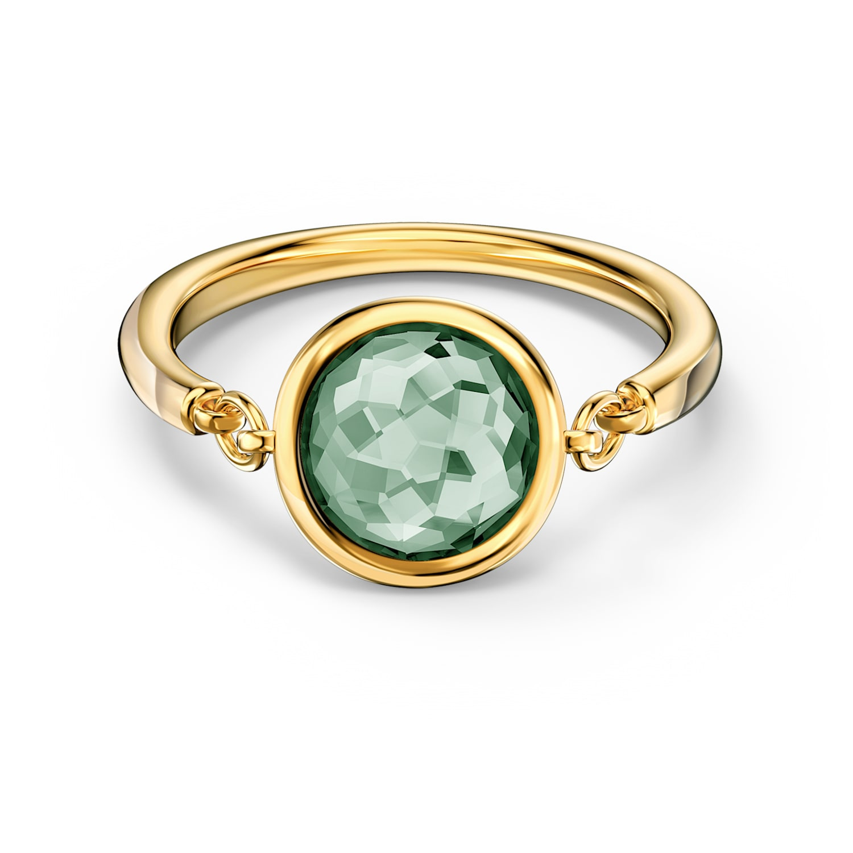 Bague Tahlia, vert, métal doré