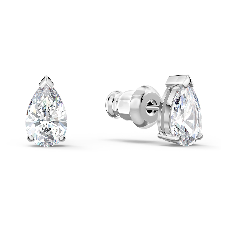 M1888-1 pairs-Rhodium Plated-Circle Earrings-Circle Ear Post