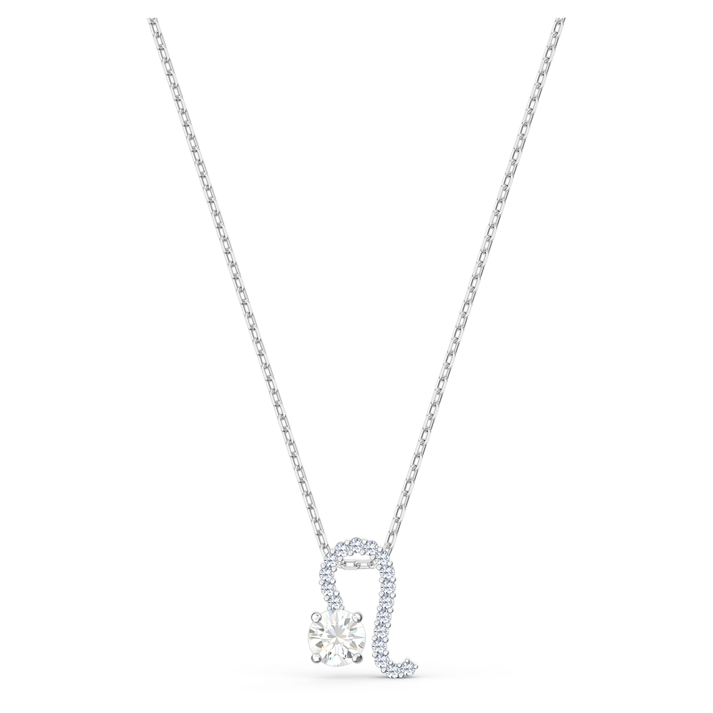 Pendentif Zodiac II, Lion, blanc, finition mix de métal